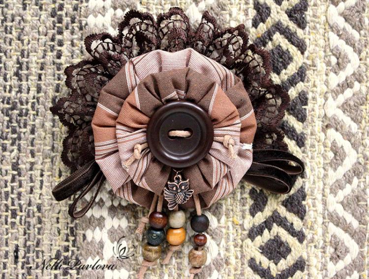 Цветок бохо из ткани своими руками мастер-класс 68