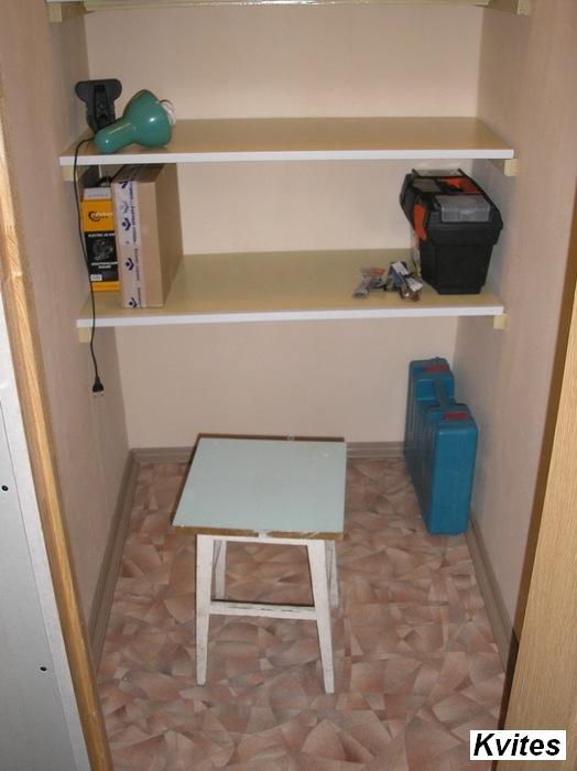 Маленькая кладовка в квартире