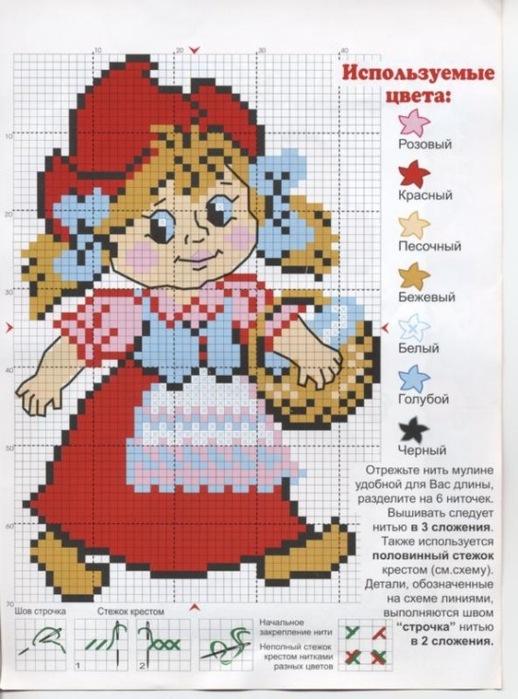 Вышивка крестом по русским сказкам 9