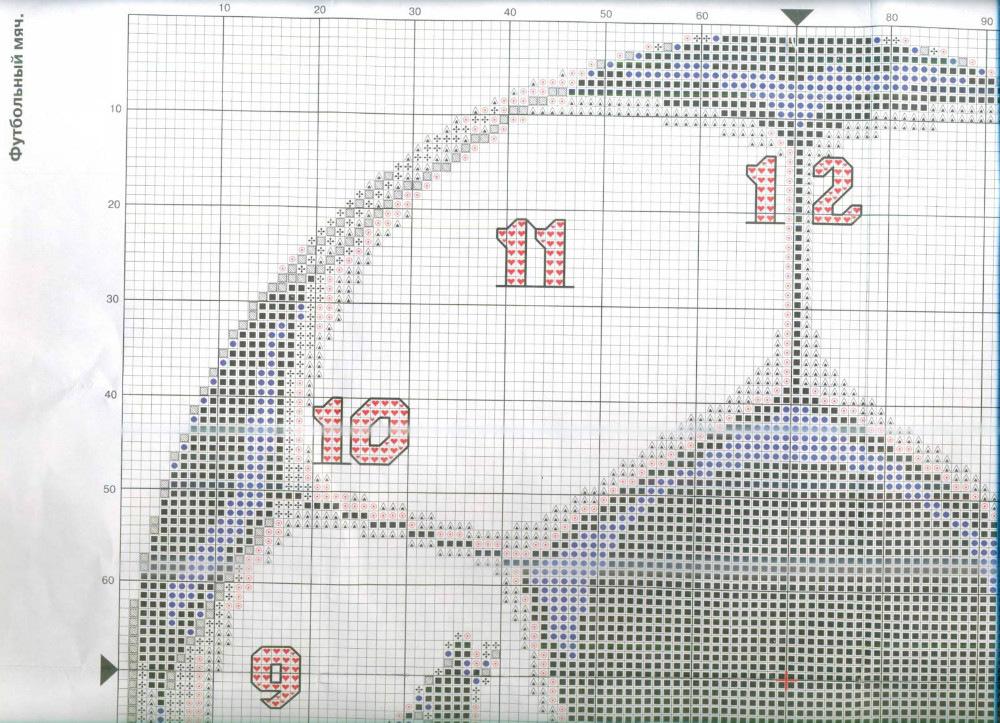 Схемы вышивки крестом футбол